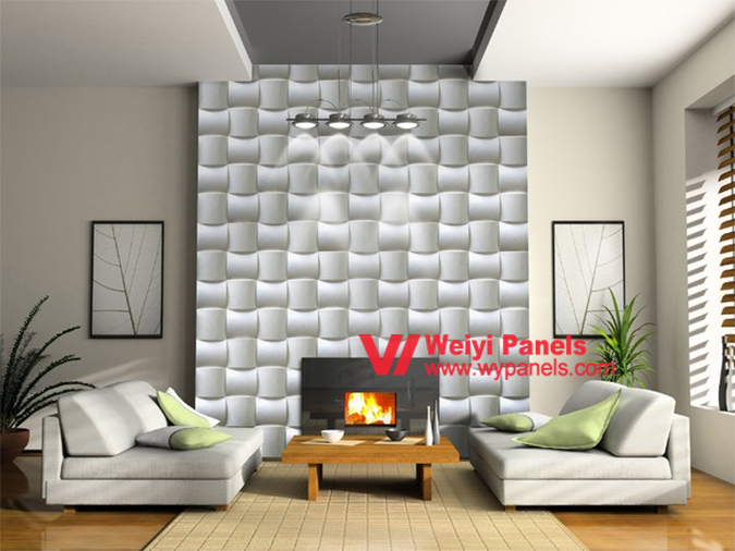 Beau MDF 3D Wall Panels Textured Wave Boards Sculpted Decorative ...